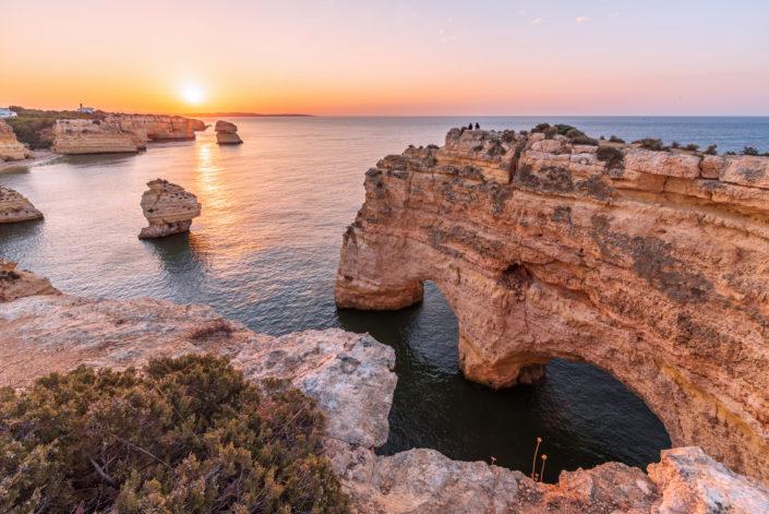 Algarve Herz Sonnenaufgang