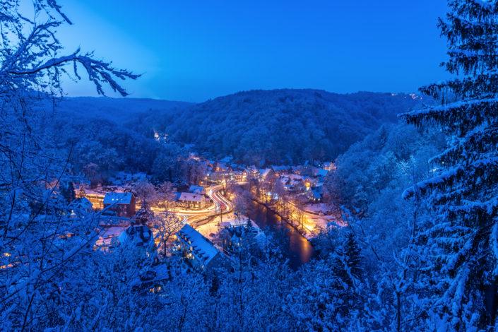 Solingen Burg Schnee Diederichstempel