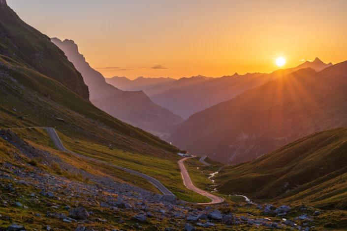Klausenpass Sonnenaufgang