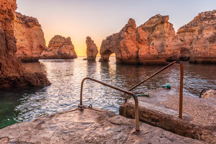 Ponta da Piedade Algarve Sonnenaufgang