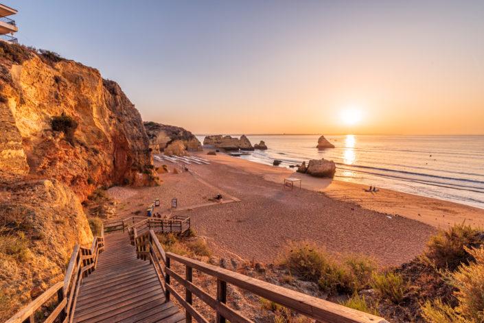 Praia Dona Ana Algarve Sonnenaufgang