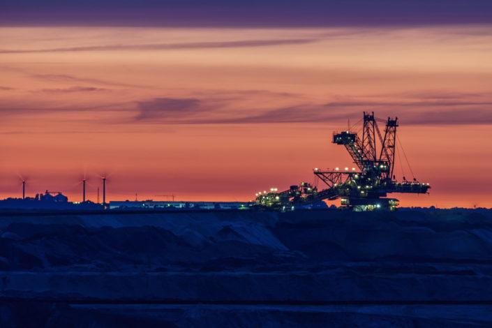 Tagebau Sonnenuntergang