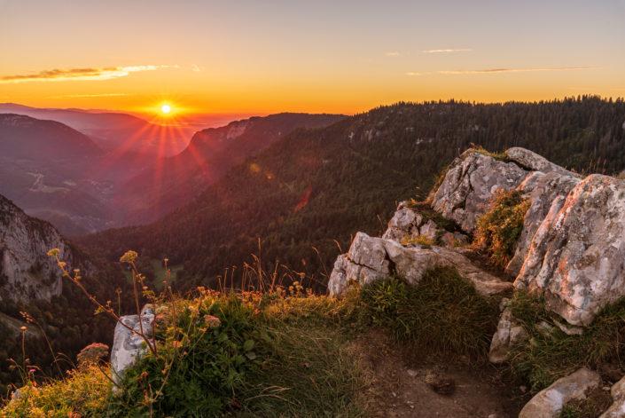 Creux du Van Sonnenaufgang