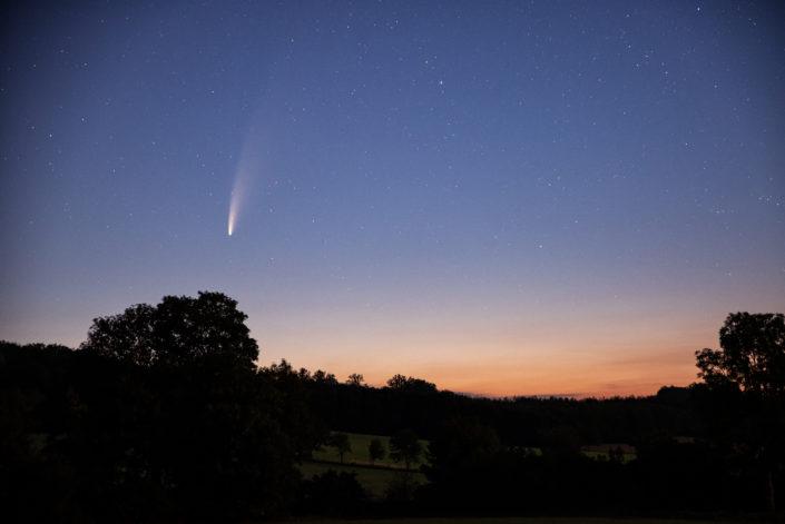 komet neowise über dem bergischen