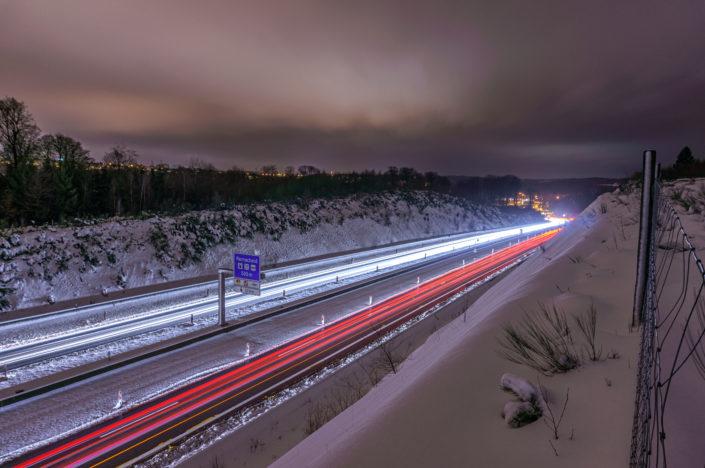 Remscheid Autobahn Schnee