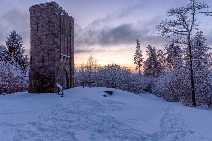 Solingen Burg im Schnee