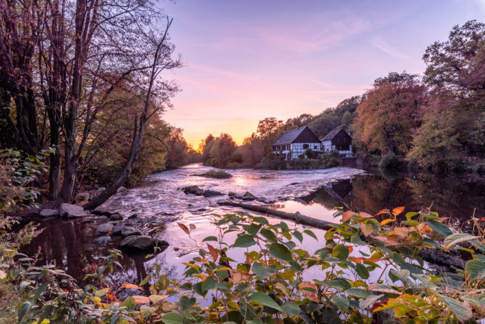 Solingen Wipperkotten Herbst Sonnenuntergang