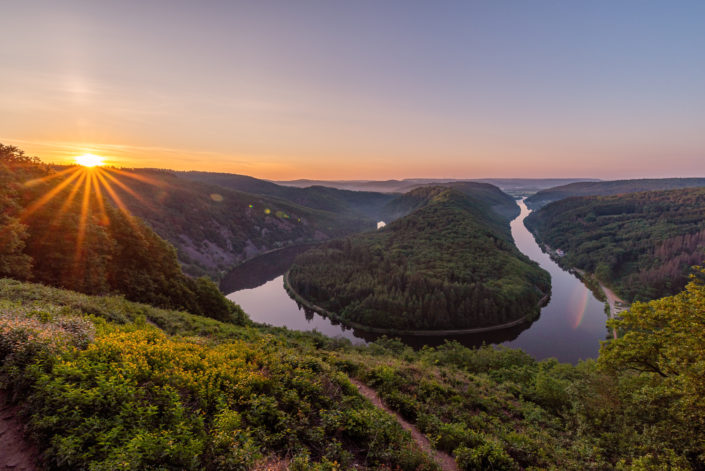 Saarschleife Sonnenaufgang