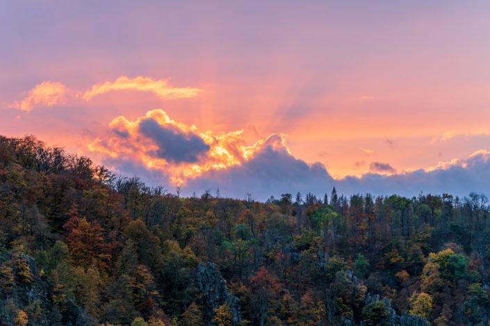 Bodetal Sonnenuntergang