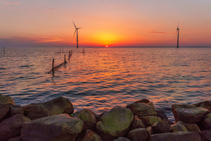 sunset in the netherland