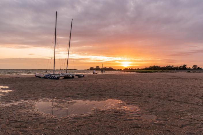 sunset lemmer on the beache