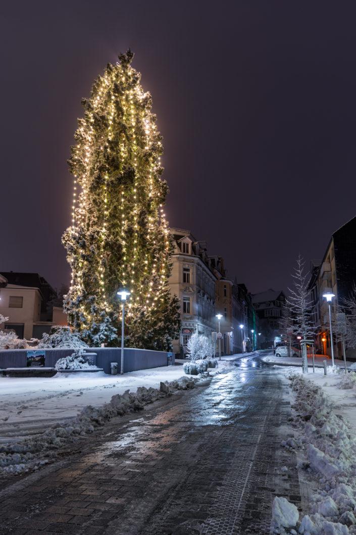 Wermelskirchen Weihnachtsbaum Schnee