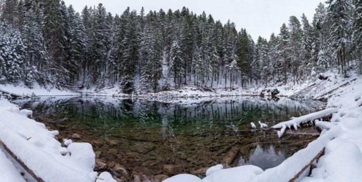 Eibsee Schnee