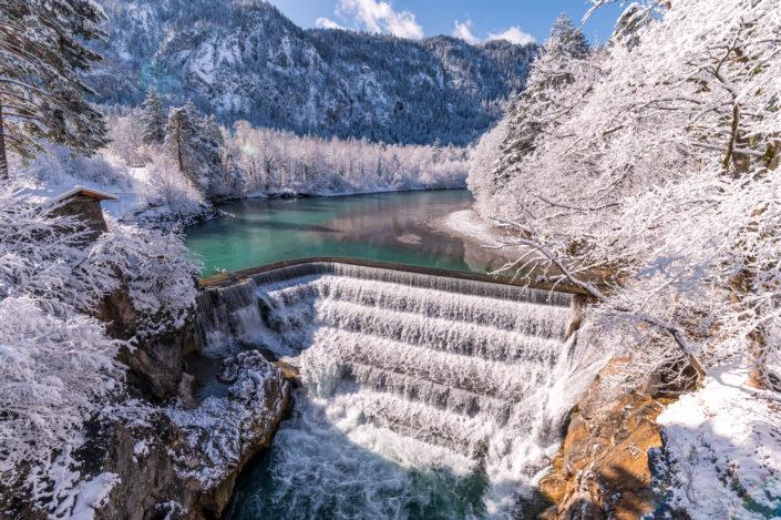 Lechfall Allgäu Schnee