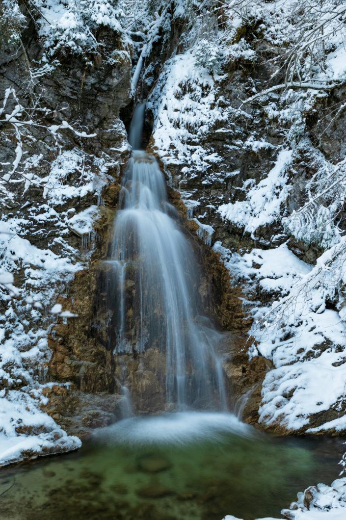 Schleifmühlklamm Schnee Unterammergau