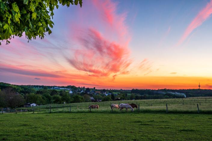 Wermelskirchen Sonnenuntergang
